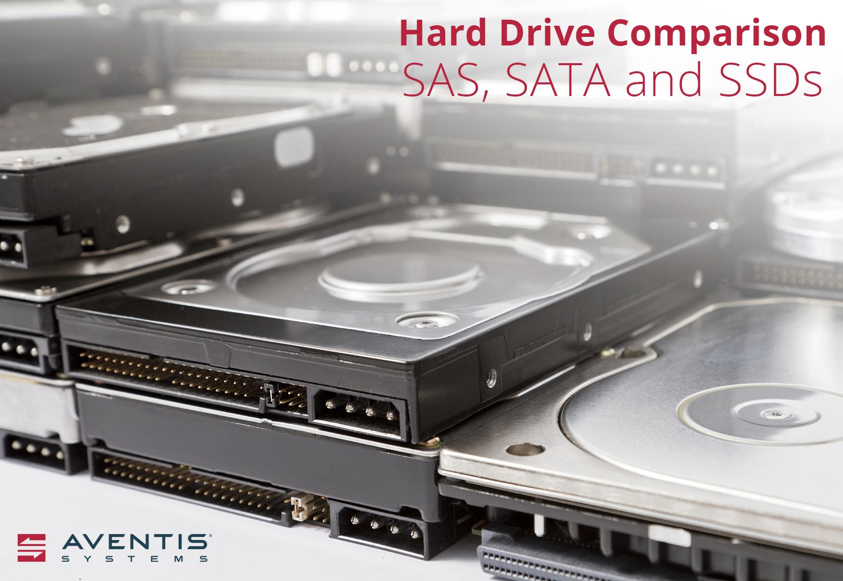 Hard Drive Comparison: SAS, SATA, & SSDs | Aventis Systems