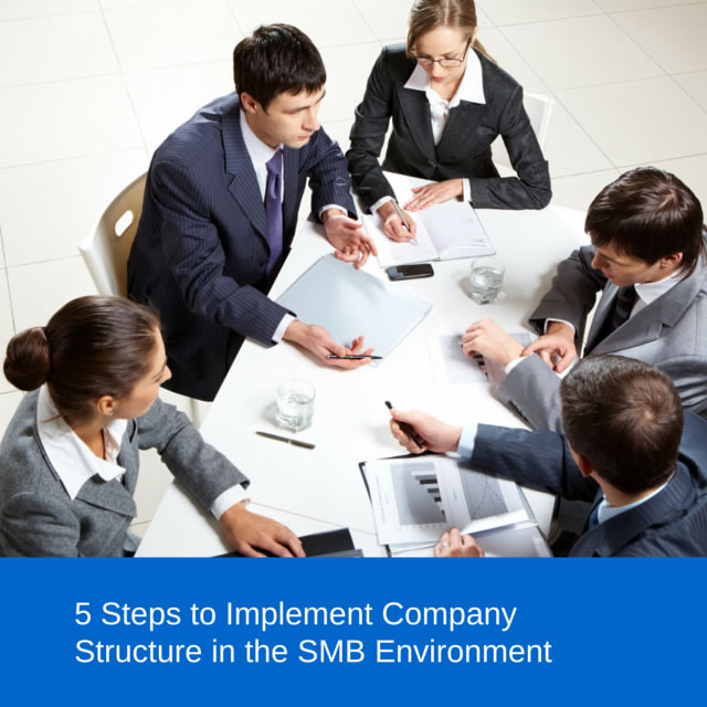 5 Steps to Implement Company Structure in the SMB Environment